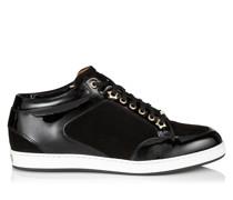 Miami Sneaker aus schwarzem Wildleder und Lackleder