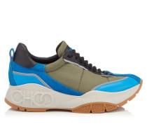 Raine Sneaker aus Leder und Meschgewebe in Himmelblau Mix