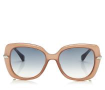 Ludi Oversize Sonnenbrille in Nude und Palladium