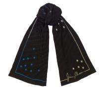 Orly Gewebte Stola in Schwarz und mehreren Farben mit Jacquard-Muster