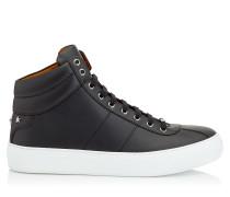 Belgravia High-Top-Sneaker aus schwarzem Kalbsleder
