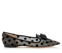 Gala Flache Schuhe mit schwarz gepunktetem Motiv und Schleife