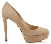 Ellis 120 Pumps mit Plateausohle aus Wildleder in Nude