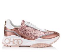 Raine Sneakers zum Schnüren aus Galactica-Glitzergewebe in Zuckerwatte und Kalbsleder