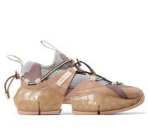 Diamond Trail/f Sneakers aus Leder in Ballettrosa mit porzellanfarbenem Stretch-Netzstoff