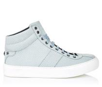 Belgravia Sneaker aus Nubukleder in Meeresschaum mit stahlfarbenen Sternen