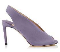 Shar 85 Peeptoe-Sandalen aus Wildleder in Violett