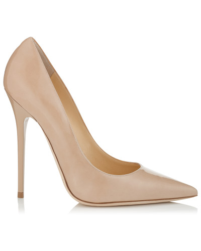 Anouk Spitze Stiletto-Pumps aus Lackleder in Nude