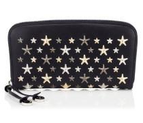 Filipa Brieftasche aus dunkelblauem Leder mit metallischen Sternen