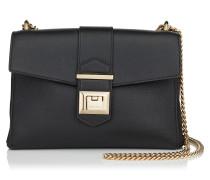 Marianne Shoulder BAG Tasche aus schwarzem genarbten Kalbsleder