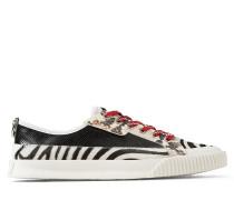 Impala/lo/m Sneaker aus Leder mit Schlangenrelief und Leder mit Fell-Print und Zebramotiv