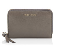 Christie Brieftasche aus weichem genarbtem Ziegenleder in Dunkelgrau