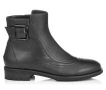 Brylee Flat Stiefeletten aus schwarzem Glattleder