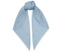 Jean H6S073570 Schal aus Kaschmir und Seide in Pfau