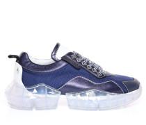 Diamond/m Sneaker aus blauem Netzgewebe und Leder-Mix mit Plateausohle