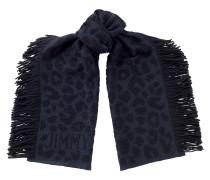 Jamie H68083250 Schal aus dunkelblauer Wolle