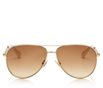 Jewly Aviator-Sonnenbrille in Rose-Gold