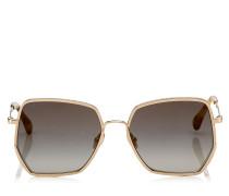 Aline Sonnenbrille mit grauen und goldenen Spiegelgläsern