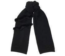 Nora Strickschal aus schwarzer Wolle