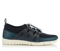 Nija Sneaker aus Leder Mix in Indigo und Netzgewebe in Blau Mix