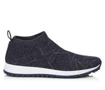 Norway Sneaker aus dunkelblauem Gewebe und Lurex