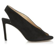 Shar 85 Sandal-Stiefeletten aus schwarzem Wildleder