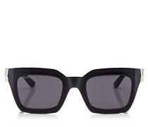 Maika Cat-Eye Sonnenbrille mit schwarzem Gestell und grauen Gläsern