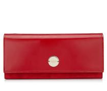 FIE Clutch aus Lack-und Wildleder in Rot
