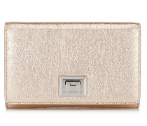Davine Mini-Tasche aus Faltengewebe in Rose Gold