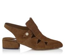 Helios 30 Schuhe mit Ausschnitten aus Wildleder in Kakao