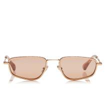 GAL Sonnenbrille mit metallischem Gestell in Gold Rosa und Gläsern in Flash Pink