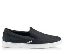 Grove Sneaker aus schwarzem Wildleder mit Relief