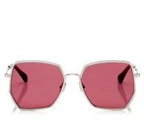 Aline Sonnenbrille mit roten Spiegelgläsern und silbernem Gestell