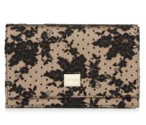 Lizzie Mini-Tasche aus Gewebe mit schwarzer Blumenspitze