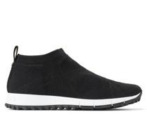 Norway Sneaker aus Gewebe in Schwarz und Lurex