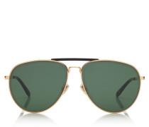 FIN Aviator Sonnenbrille in Gold und Schwarz