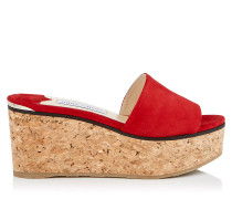 Deedee 80 Wedges aus rotem Wildleder