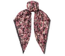 Egle Schal mit Print in Schwarz und Bordeaux