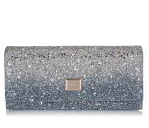 Lilia Mini-Tasche aus Glitzergewebe mit Dégradé in Silber und Dämmerungsblau