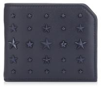 Albany Faltbare Brieftasche aus dunkelblauem Leder mit Sternen