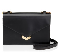 Leila Umhängetasche aus schwarzem Spazzolato-Leder