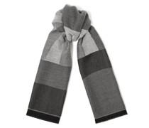 Jude Großer Schal aus feiner Wolle in Dämmerungsgrau