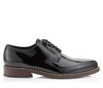 Miles Schnürschuhe aus schwarzem Lackleder