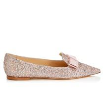 Gala Spitze flache Schuhe aus Glitzergewebe in Violett-Mix