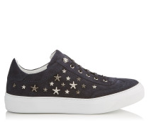 ACE Sneaker aus Denim-Wildleder in Dunkelblau mit metallischen Sternen