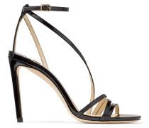 Tesca 100 Sandaletten aus schwarzem Lackleder