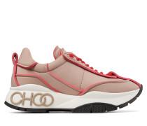 Raine Sneaker aus Nylon mit Matelassé-Optik in Ballettrosa und roten Details