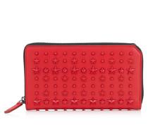 Carnaby Reisebrieftasche aus rotem Leder mit Sternen