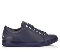 Cash Sneaker aus weichem dunkelblauen Kalbsleder