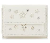 Nemo Portemonnaie aus Leder in Kreide mit Kristall-Sternen